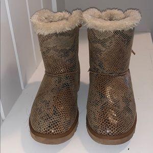 Snake skin UGG boots
